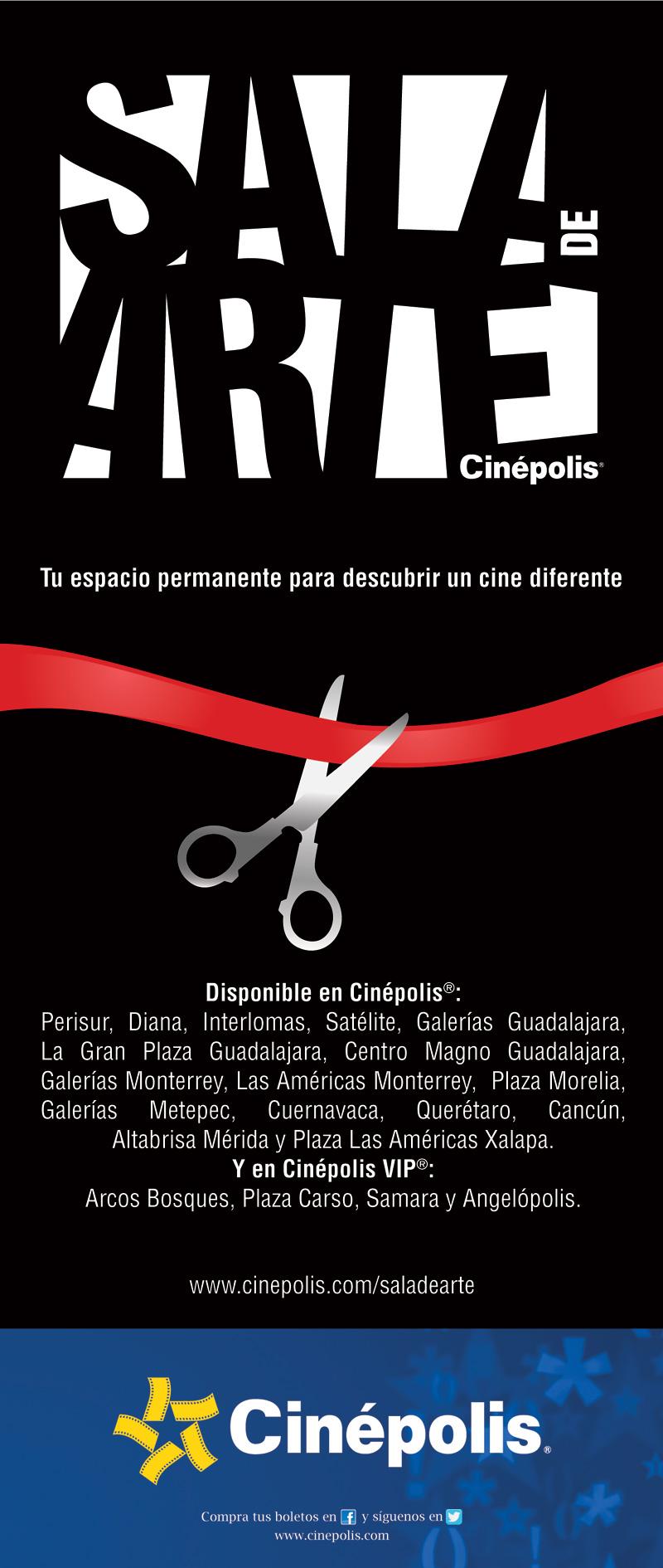 Cin polis abre sala de arte en 11 ciudades de m xico for Cartelera cinepolis cd jardin