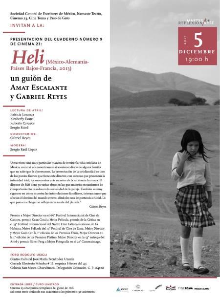 Cartel presentación Heli