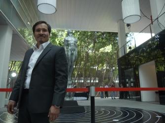 """El actor Leonardo Alonso, nominado a Mejor Actor por """"El vigilante"""". Foto: Sergio Raúl López."""