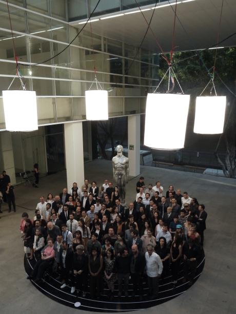 Así fue la fotografía oficial de nominados en los Estudios Churubusco. Foto: Sergio Raúl López.