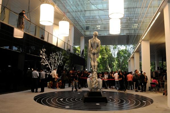 Panorámica del foro en el que se realizó la fotografía oficial de nominados al LX Ariel. Foto: Pedro González Castillo.